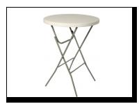 Statafel makkelijk inklapbaar eventueel te combineren met een tafelrok