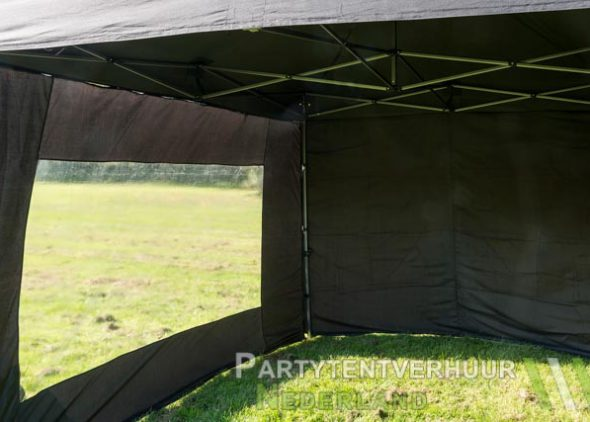 Easy up tent 3x3 meter voorkant huren - Partytentverhuur Leeuwarden
