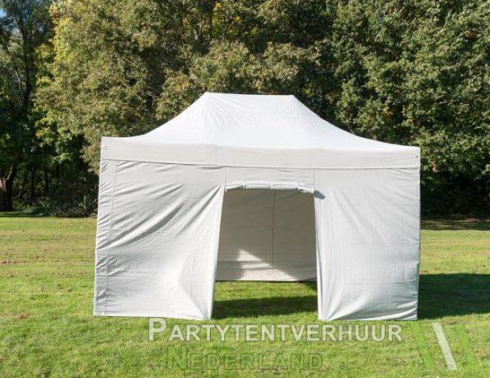 Easy up tent 3x4,5 meter voorkant huren - Partytentverhuur Leeuwarden
