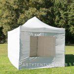 Easy up tent 3x4,5 meter voorkant schuin huren - Partytentverhuur Leeuwarden