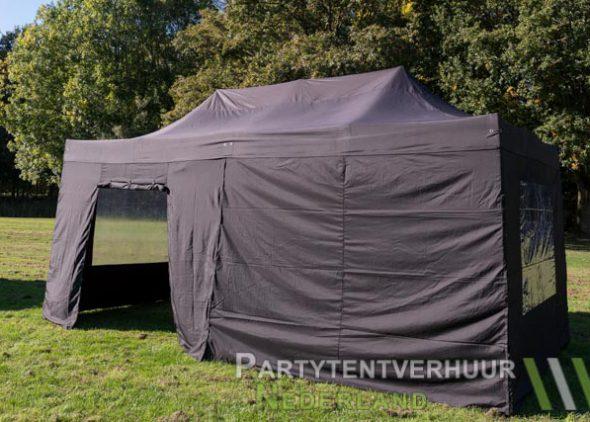 Easy up tent 3x6 meter zijkant met deur huren - Partytentverhuur Leeuwarden