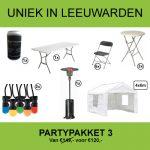 partypakket 3 huren in Leeuwarden
