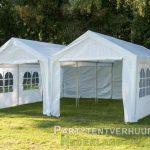 Partytent 6x6 meter voorkant huren - Partytentverhuur Leeuwarden