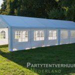 Partytent 6x12 meter zijkant rechts huren - Partytentverhuur Leeuwarden